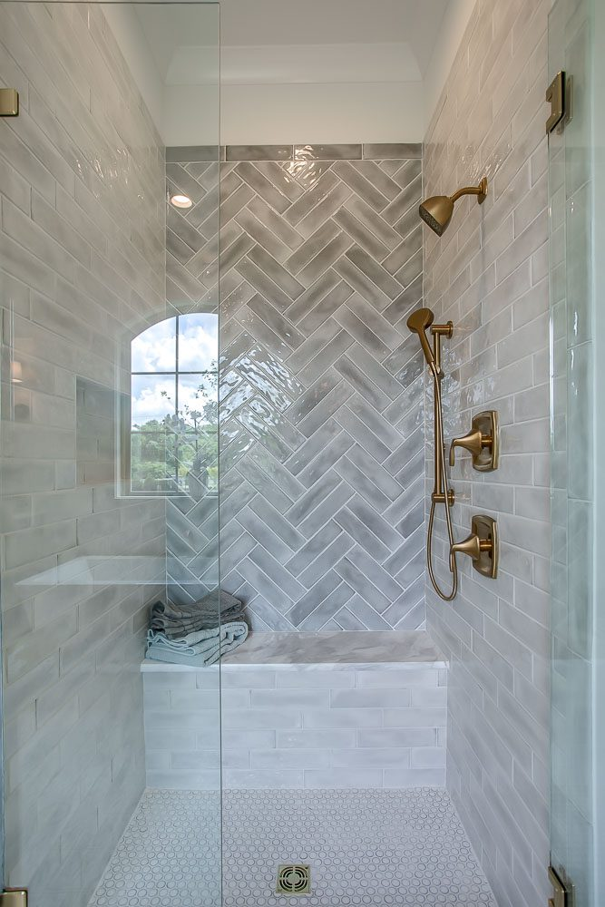 Shower and high-end home designs by an Elegant Home Designer of Nashville's Luxury Dream Home Plans